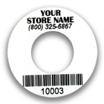 Custom DVD Label with Bar Code and Your Store Nam
